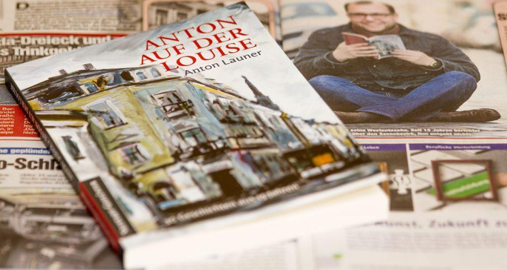 """Anton Launers Buch """"Anton auf der Louise"""" auf einem Beitrag der Morgenport Dresden"""