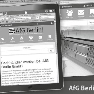 Anzeige über neue AfG-Website