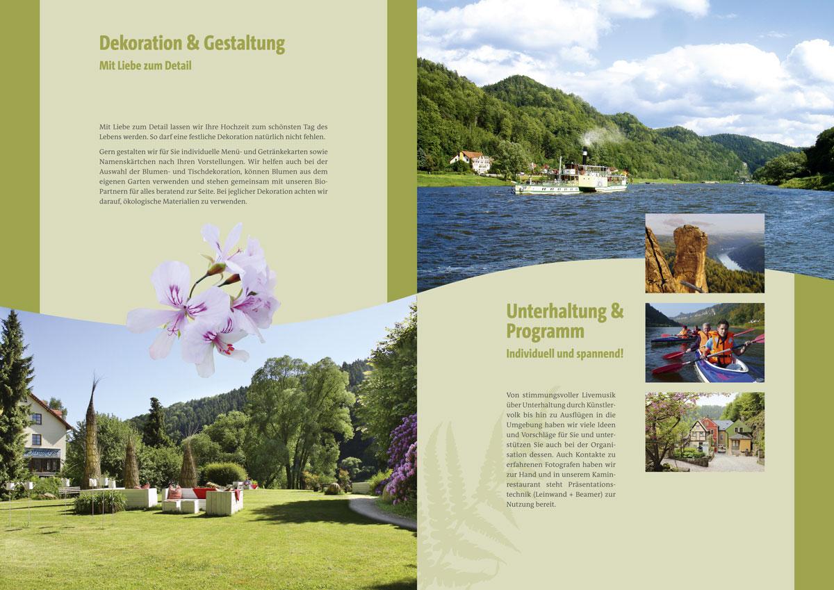 Broschüre gestalten für das Hotel Helvetia in Schmilka