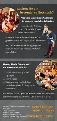 Veranstaltungskalender Kasematten Festung Königstein