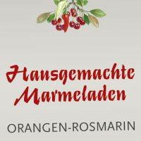 Kasematten Werbeschild für Marmeladen