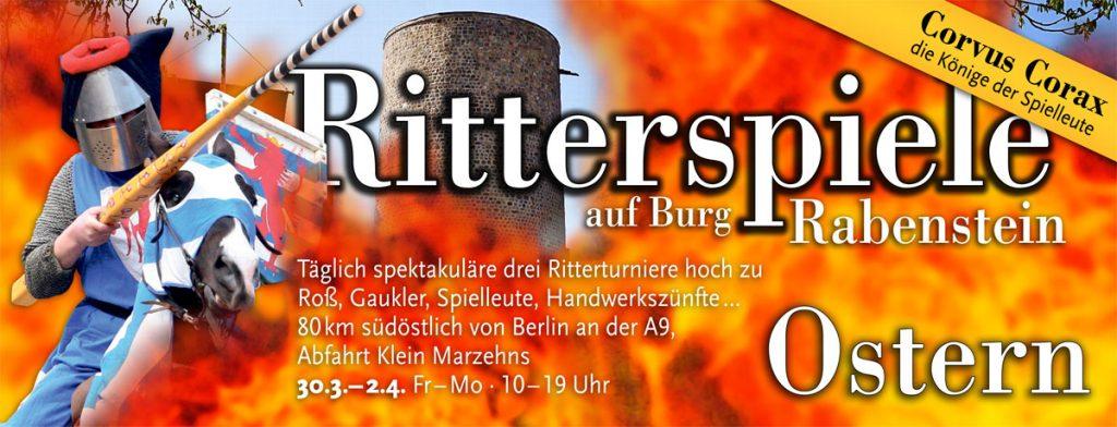 Anzeige Ritterspiele zu Ostern von Neuland Zeitreisen