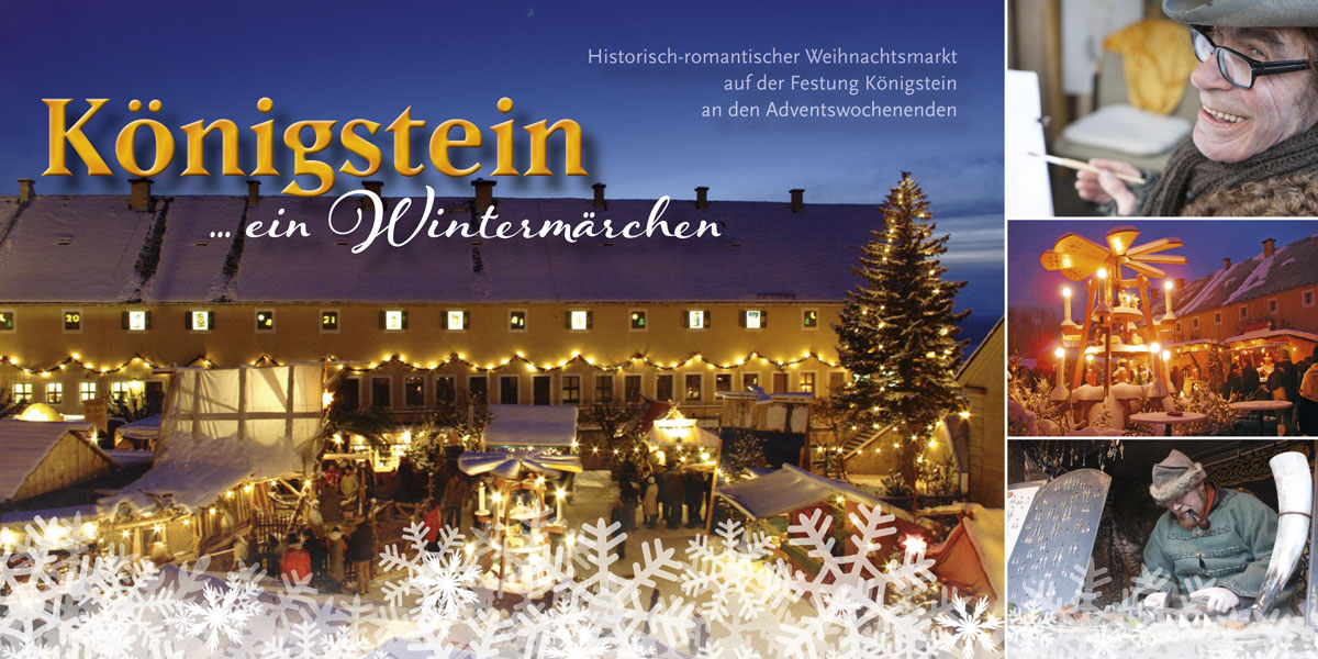 Neuland Postkarte Weihnachtsmarkt Königstein