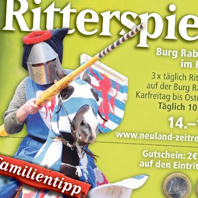 Leuchtenburg Anzeige Ritterspiele Ostern