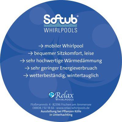 Rundkarte für Relax Whirlpools