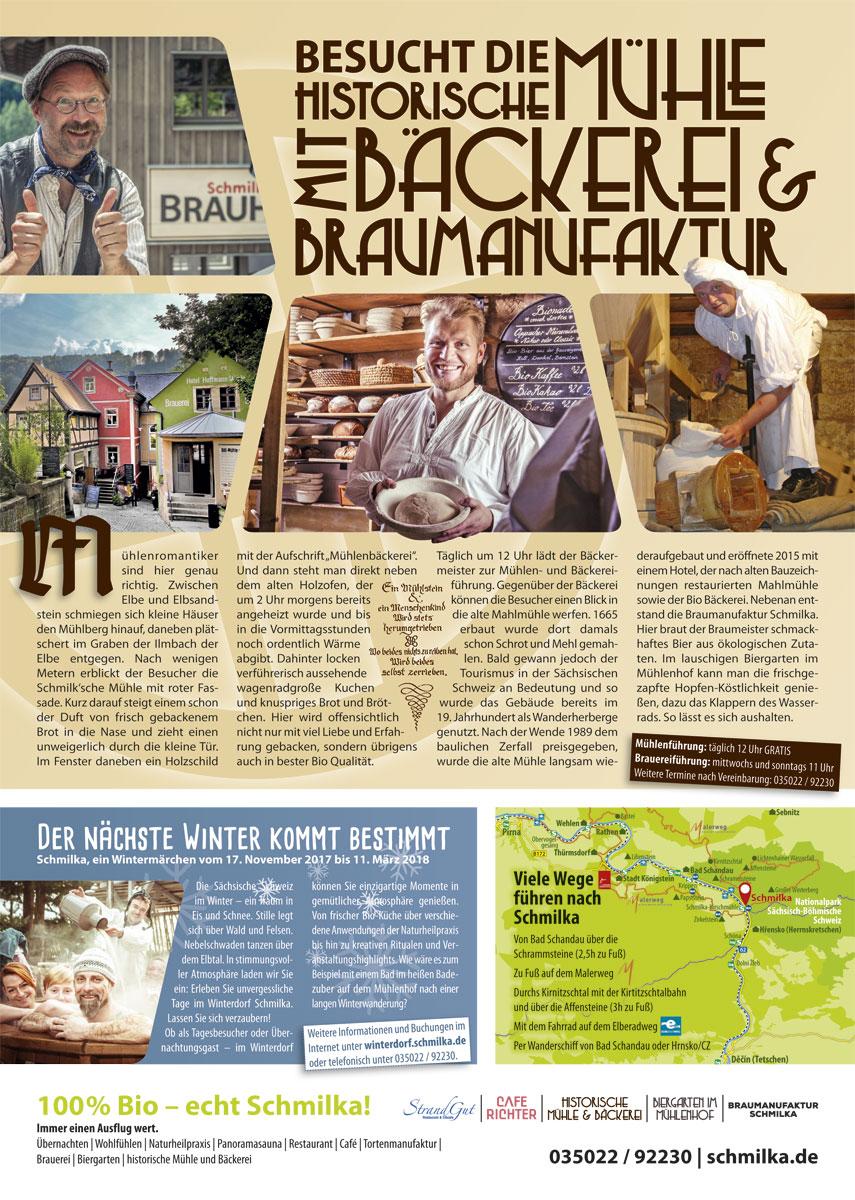 Advertorial Design für Schmilka im Sandstein-Kurier