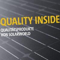 Broschüre über die Produktqualität bei SolarWorld