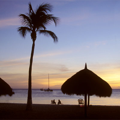 Endlose Strände auf Aruba
