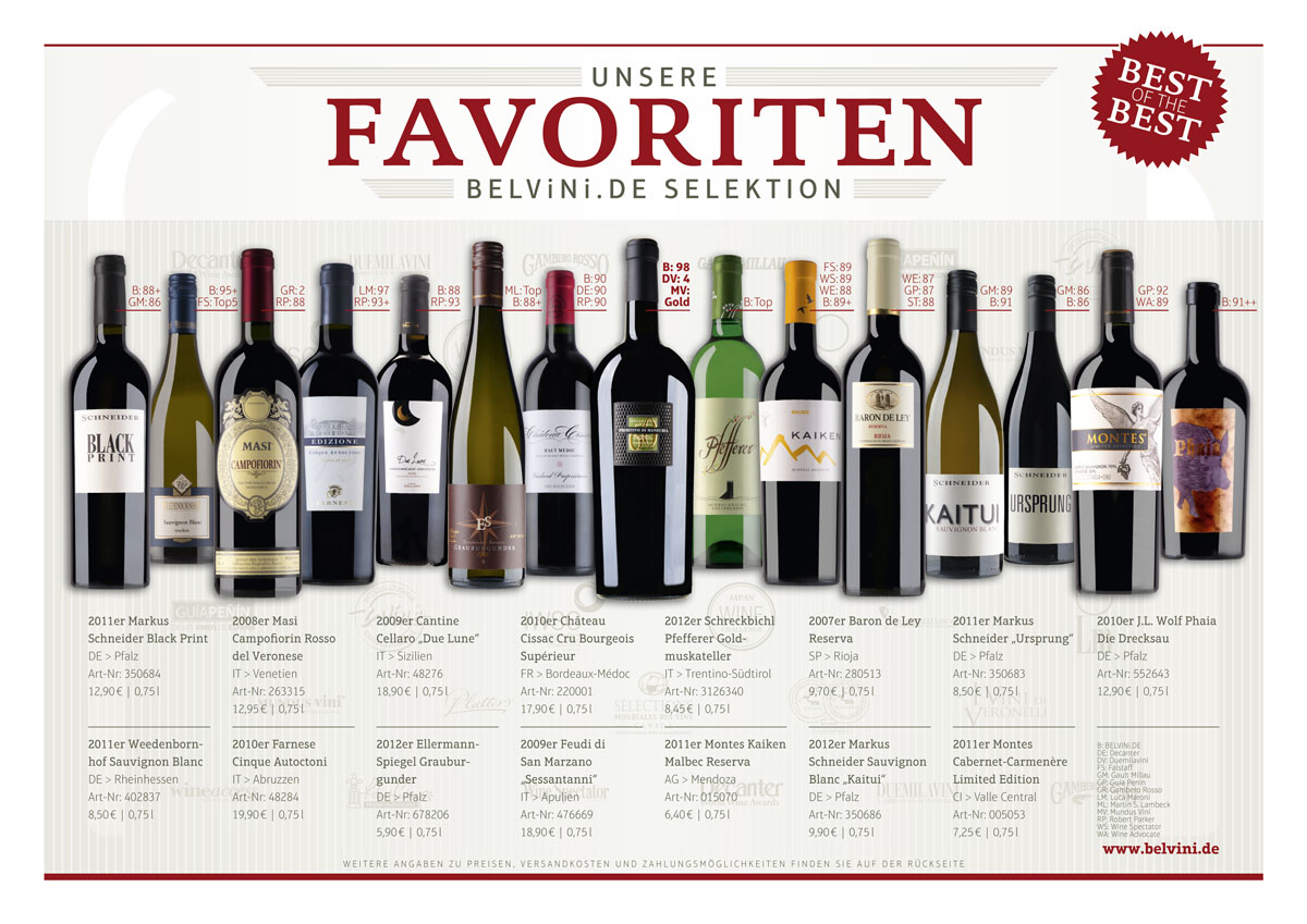 Belvini Flyer Favoriten