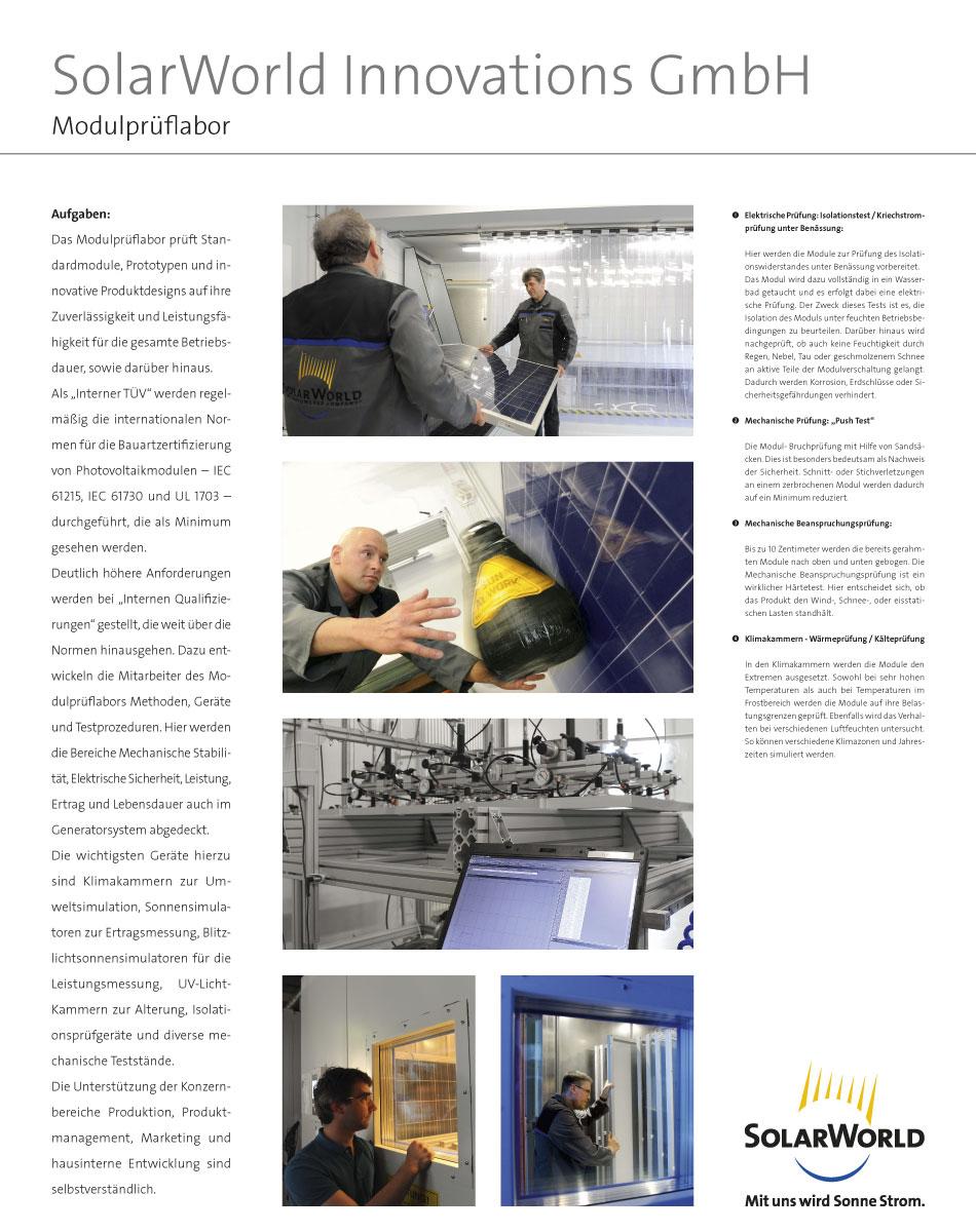Plakate für Führungen in SolarWorld Innovations