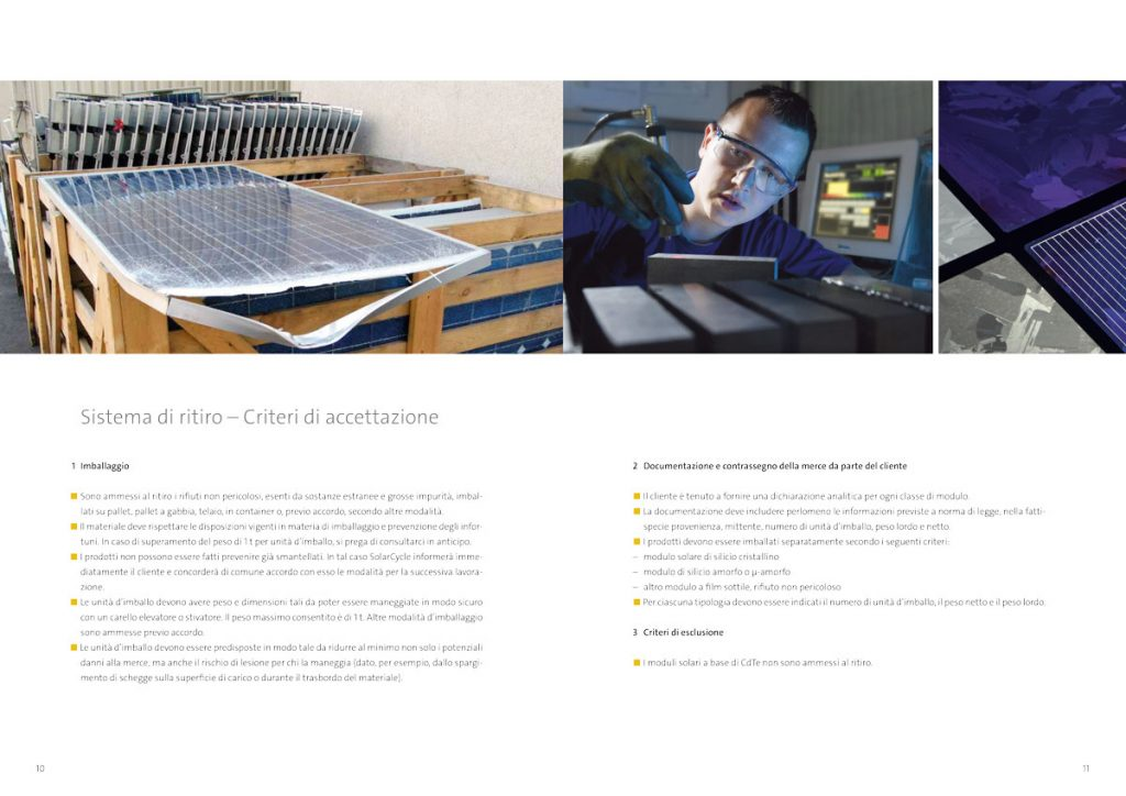 Prospekt SolarCycle italienisch