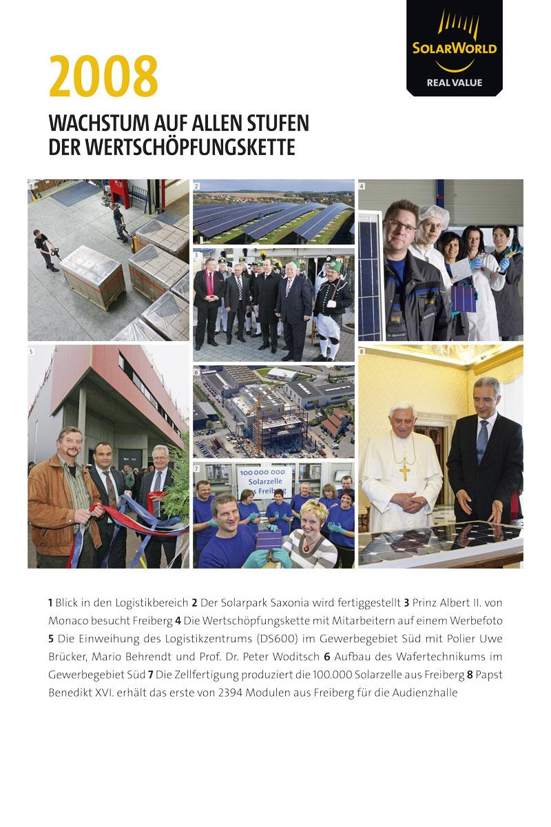 SolarWorld Tafeln 20Jahre in Freiberg