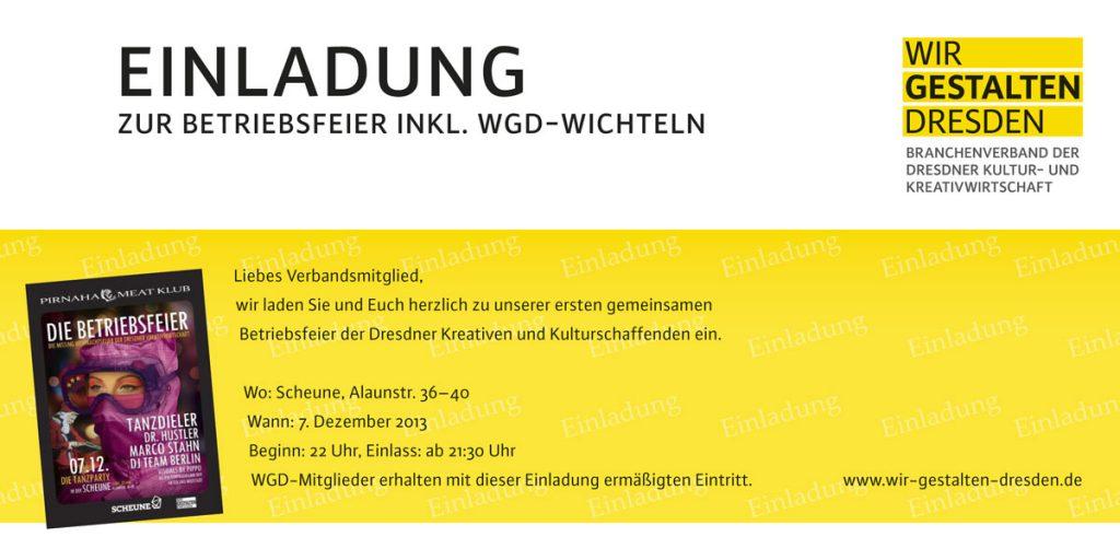 Einladung Wir gestalten Dresden