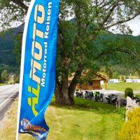 Beachflag Almoto Motorradreisen