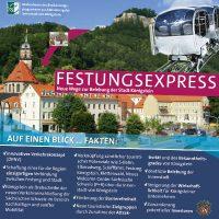Infoplakat Festungsexpress Königstein
