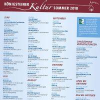 Programmplakat Königsteiner Kultursommer
