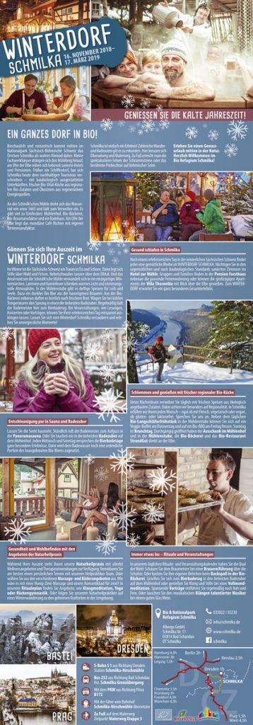 Falzflyer Winterdorf Schmilka