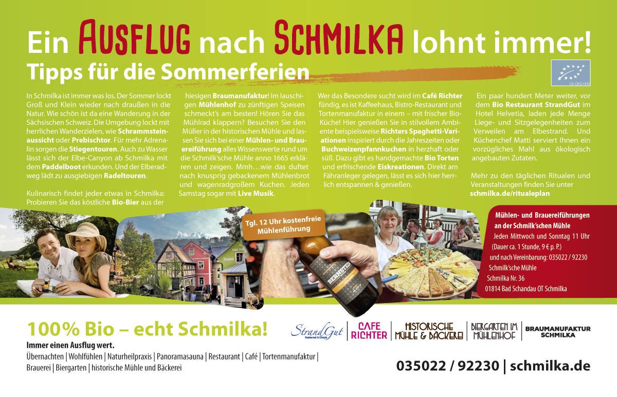 Advertorial Design Schmilka im Sandstein-Kurier