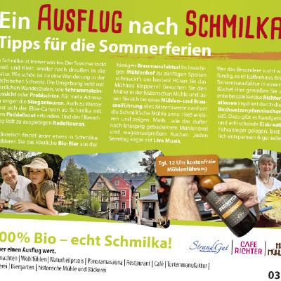 Advertorial für Sommerferien in Schmilka