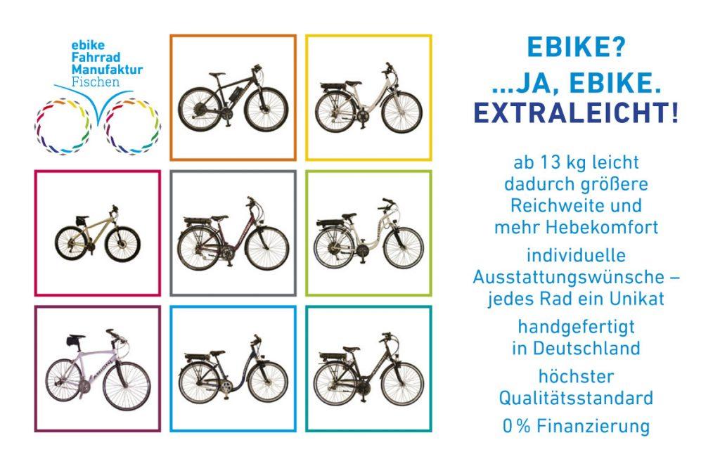 Visitenkarte ebike Fahrradmanufaktur Fischen