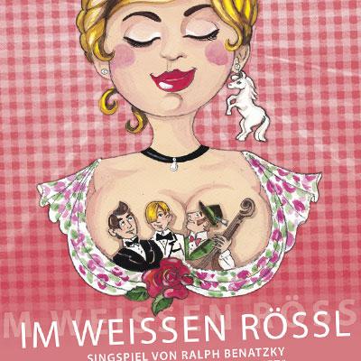 Landesbühnen Sachsen Plakat Im weißen Rössl