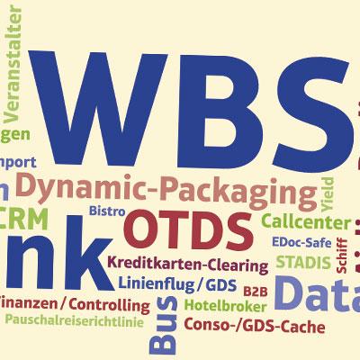 Messetafel mit Wordcloud für WBS Blank