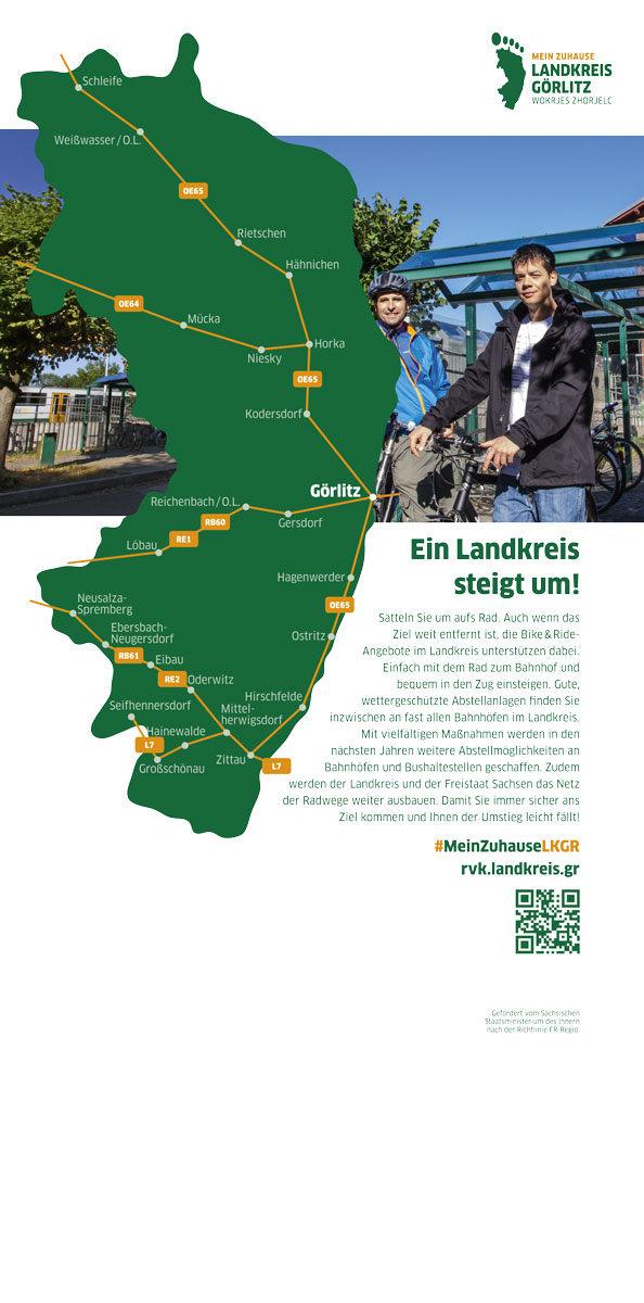 Messebanner Landkreis Görlitz Bike&Ride