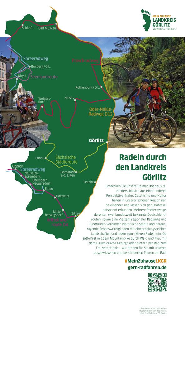 Messebanner Landkreis Görlitz Radwege