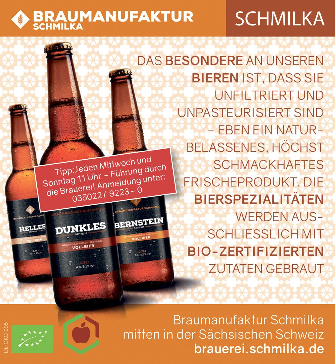 Anzeige Braumanufaktur Schmilka Berliner Zeitung