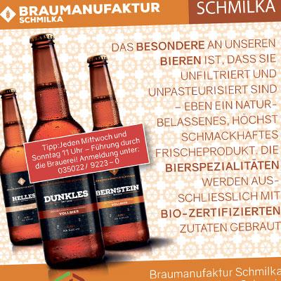 Anzeige für Bio-Brauerei in Schmilka
