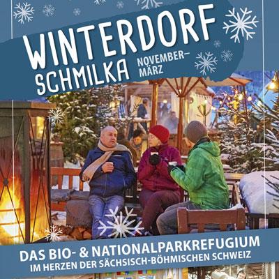 Roll-Up für das Winterdorf in Schmilka