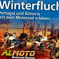Webbanner Winterfluchten Almoto Motorradreisen