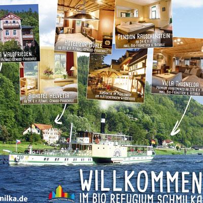 Anzeige Schmilka im Gastgeberverzeichnis der Sächsischen Schweiz
