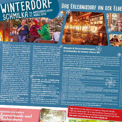 Advertorial Winterdorf in Schmilka