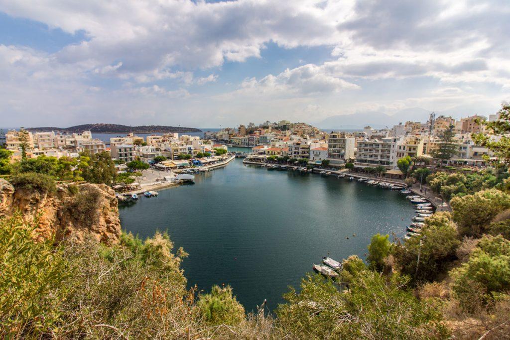 Der Voulismeni-See in Agios Nikolaos, Kreta
