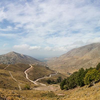 Das Bergland von Ostkreta als Panorama