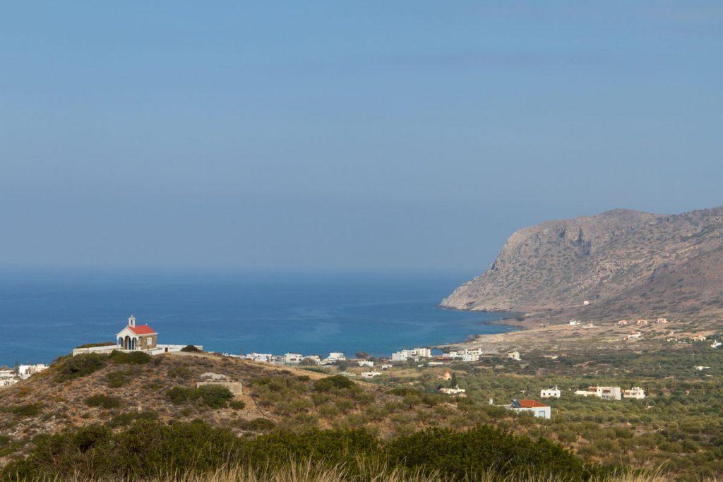 Blick auf die Bucht von Milatos und Paralia Milatos