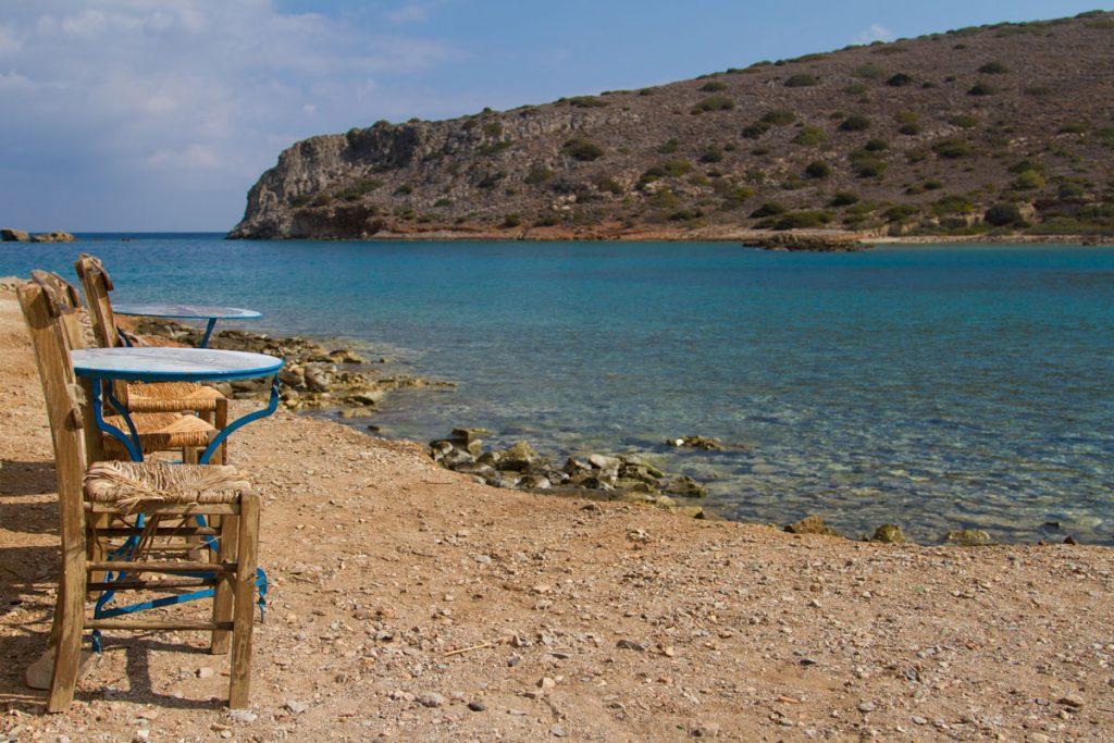 Ruheplatz auf der Lepra-Insel Spinalonga vor Kreta