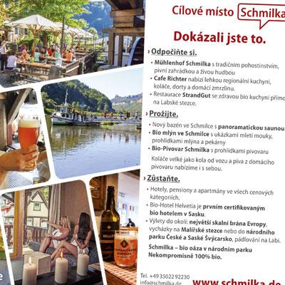 Schmilka informiert auf Tschechisch