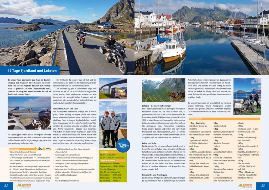 Katalog 2019 Almoto Motorradreisen