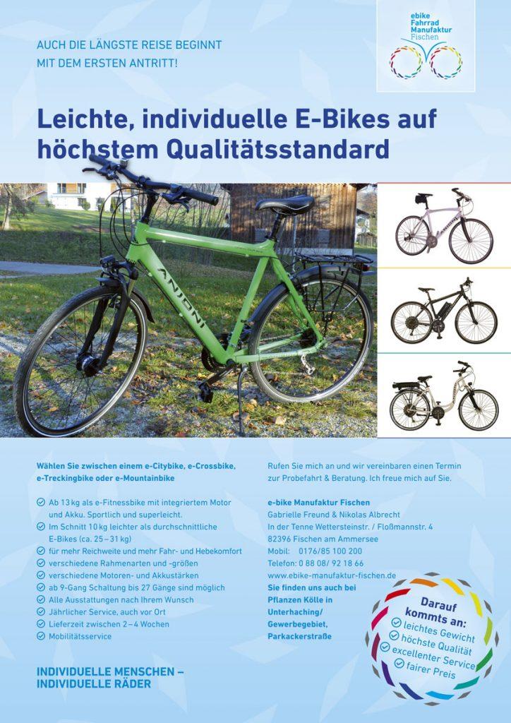 Flyer E-Bike Fahrradmanufaktur Fischen