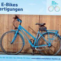 Messebanner der E-Bike-Manufaktur Fischen