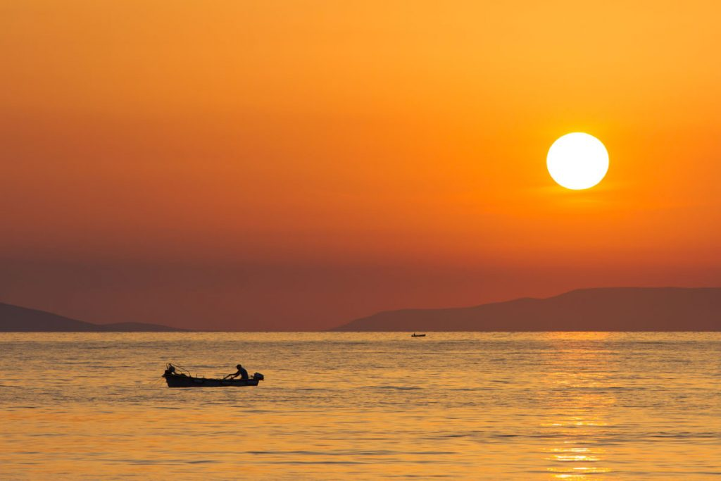 Aegiali auf Amorgos, Griechenland