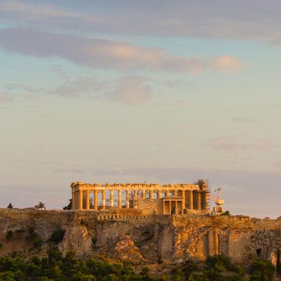 Akropolis im Abendlicht, Athen, Griechenland