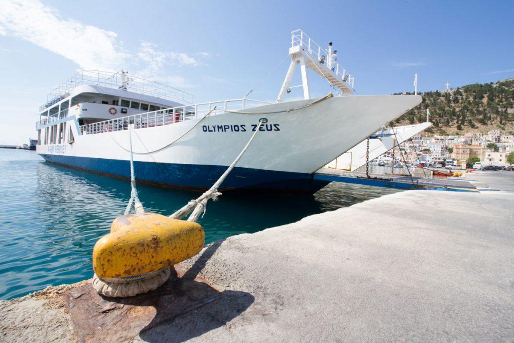Hafen von Pothia auf Kalymnos, Griechenland