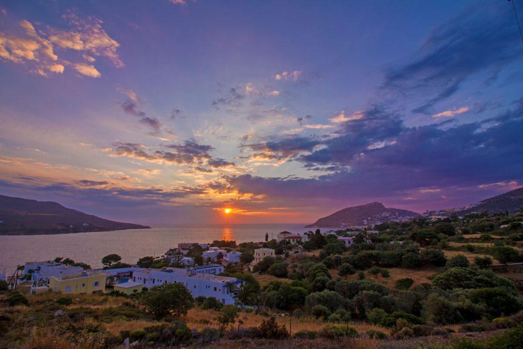 Sonnenaufgang über Alinda im HDR