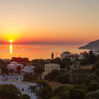 Panorama der Bucht von Alinda, Leros