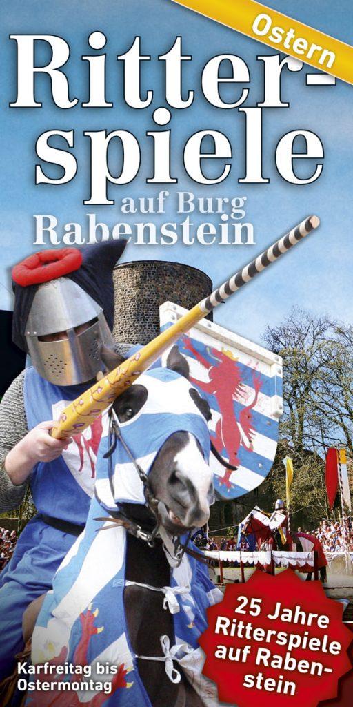 Programmflyer Ritterspiele Ostern Burg Rabenstein