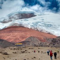 Cotopaxi (5897m) - Weg zur Schutzhütte (4800m)
