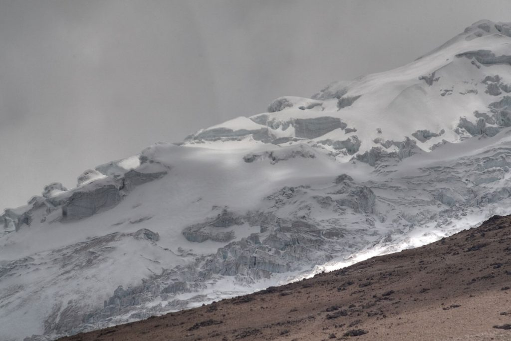 Gletscher am Cotopaxi